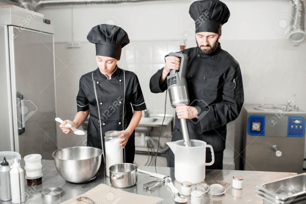 Equipments used to prepare food in commercial kitchen